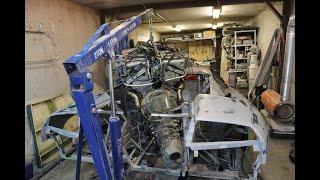 Самодельный Ламборгини / Примерка мотора V12. Зеркала. Фонари