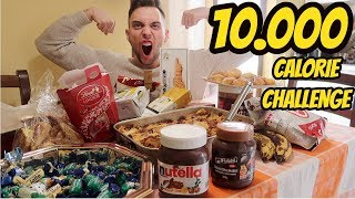 10,000 CALORIE CHALLENGE In Un GIORNO II CHEAT DAY EPICO II MAN Vs FOOD 🍔🍟🍕