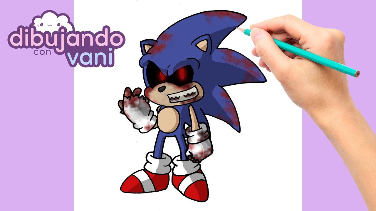 Sonic Exe Dibujos De Sonic Para Colorear Faciles