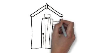 How To Draw Front Garden Shed