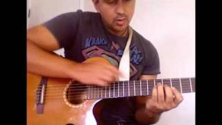 How to play the guitar riff to april sun in cuba.