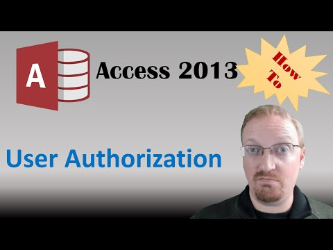 How To Manage User Access in Access 2013