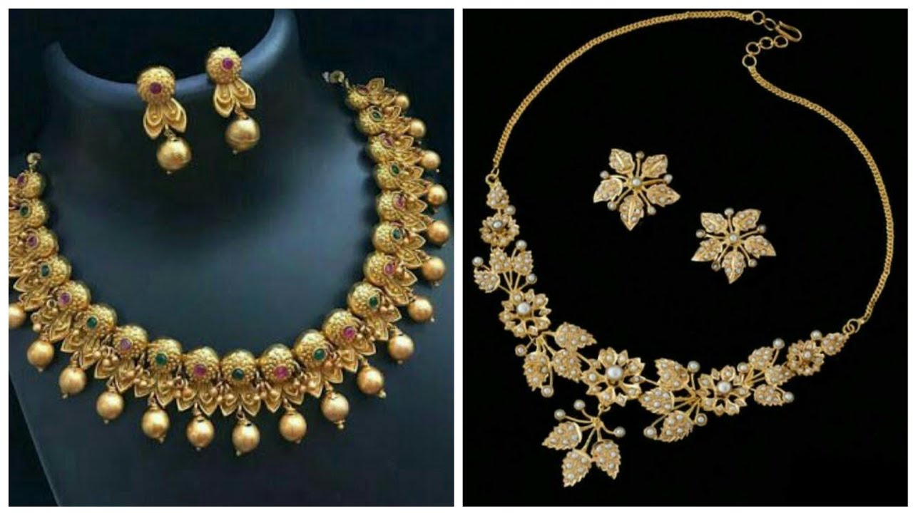 Gold Necklace Designs Gold Neck Jewellery Latest New Gold Jewellery Ideas Youtube