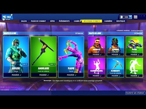 BOUTIQUE FORTNITE du 3 Mars 2019 ! ITEM SHOP March 3 2019 !