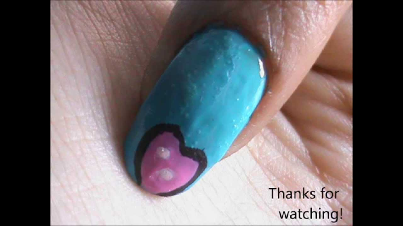 How to Do Cute Nail Art on Short/Long Nails?! - YouTube