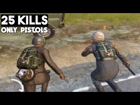 PISTOL ONLY CHALLENGE MUST WATCH! | 25 KILLS Duo vs Squad | PUBG Mobile