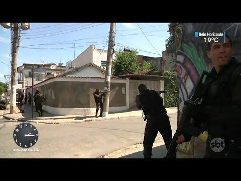 Arrastão assusta motoristas em via movimentada da zona oeste do Rio | SBT Notícias (23/02/18)