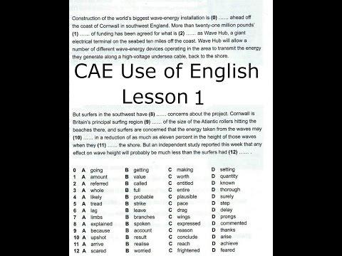 CAE Use Of English LESSON 1