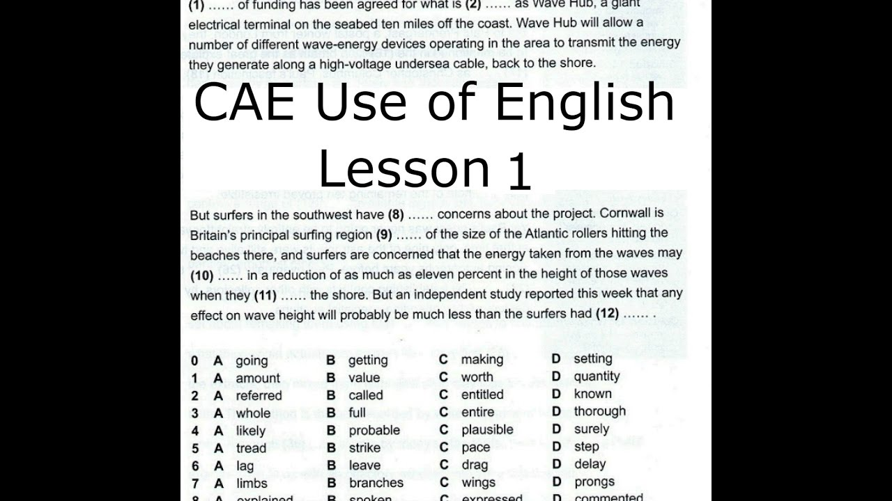 Cae use Of English papers
