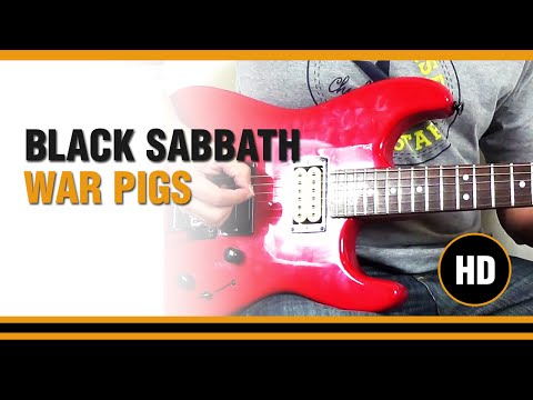 How to play War pigs from BLACK SABBATH - Electric Guitar GUITAR LESSON