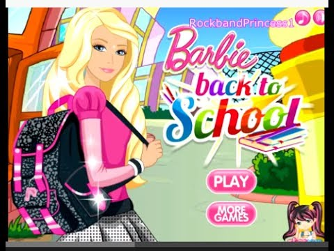 Barbie Games Barbie School Style Dress Up Game Youtube
