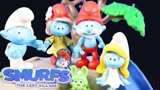 Smurfs The Lost Village Blind Bags Play At Park And Have Picnic Gargamel Tries To Spoil The Fun