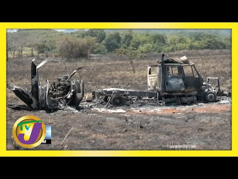 Trelawny Fire Truck Destroyed by Fire   TVJ News - May 14 2021