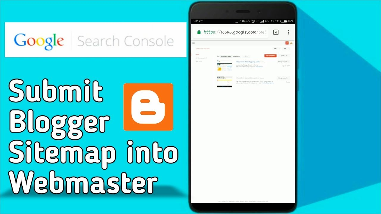 how to submit blogger sitemap google search console hindi youtube