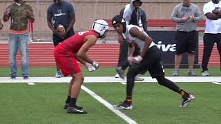 WR vs DB 1 on 1's Rivals Camp Series Dallas 2018