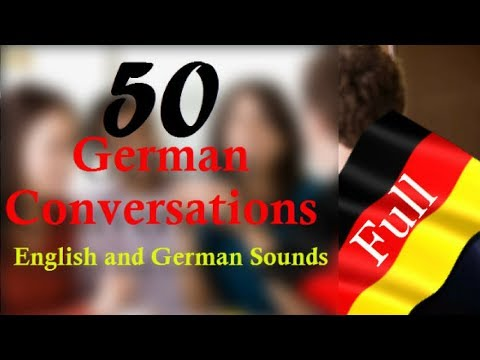 50 German Conversations│in One Video│With English pronunciation