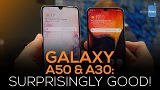 Samsung Galaxy A50 and A30 hands-on: Surprisingly Good!