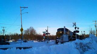 Pan Am SEPO w/ CSX power through Dover,NH HiDEF