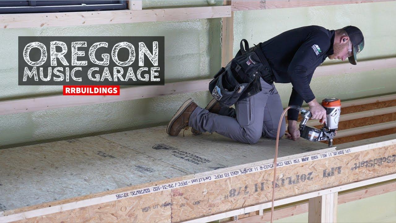 Oregon Music Garage Part 15: Installing Subfloor and Bathroom Framing