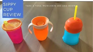 Sippy Cup Review: Take and Toss, Munchkin 360 and Boon lids
