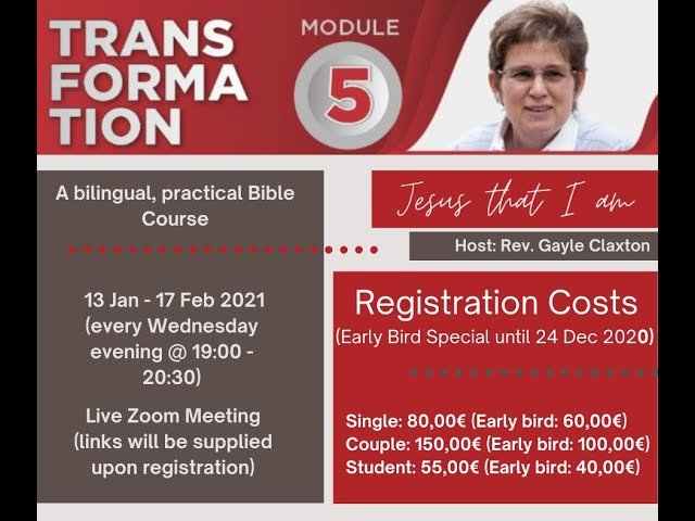 Coming up: Transformation 5 | Jesus that I am