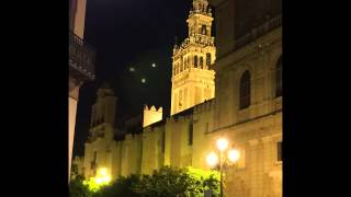 UFO over the cathedral of Sevilla, Spain - April 2015