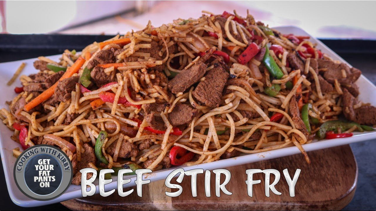 (265) Beef Stir Fry - Chinese Food - 36 Inch Blackstone Griddle - YouTube