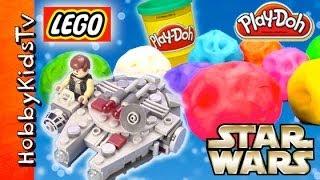 PLAY-DOH Surprise Egg Star Wars Astroids HobbyKidsTV