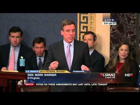 Senators Thune and Warner debate Thune death tax repeal amendment