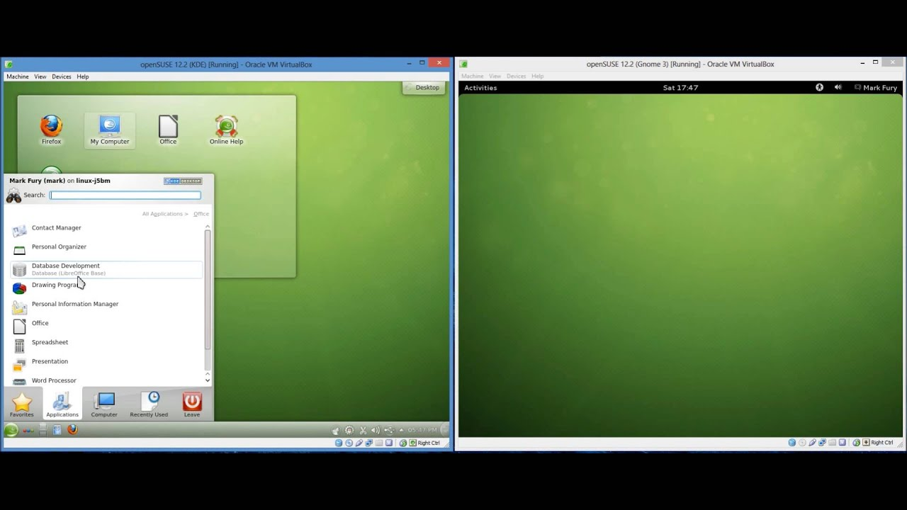Opensuse 12.2 beta 2 gnome x86 64