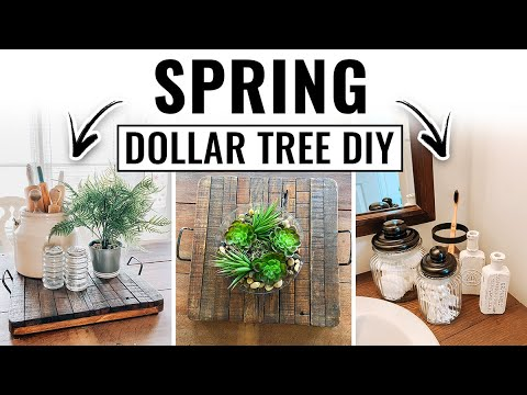 Dollar Tree Spring DIY Decor 2020 - Easy DIY Decor Ideas - Farmhouse Decor