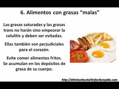 Dieta para combatir la celulitis 7 alimentos que no debe consumir youtube - Alimentos que no engordan para cenar ...