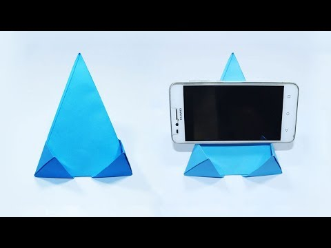 How To Make Paper Mobile Stand Without Glue - Easy Origami Phone Holder