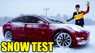 What is a Tesla like in Snow? REAL WORLD TEST