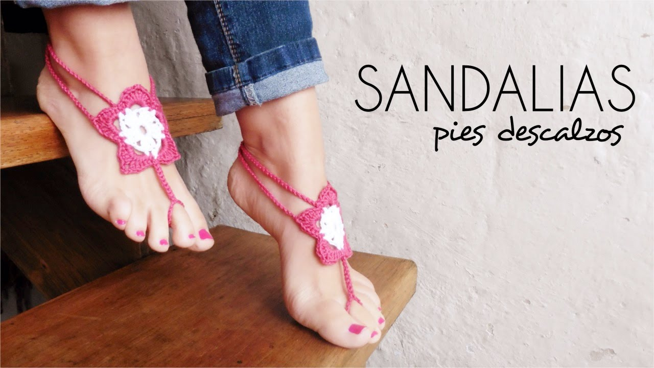 SANDALIAS PIES DESCALZOS a crochet | BAREFOOT SANDALS (english sub ...