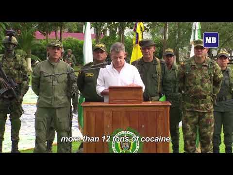 Colombia announces record 12-ton cocaine seizure