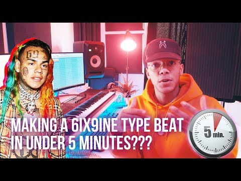 MAKING A 6IX9INE TYPE BEAT FROM SCRATCH IN 5 MINUTES!!! (Chuki Beats Making A Beat)