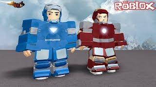 Demir Adama Dönüştük! -Panda Ile Roblox Iron Man Simulator