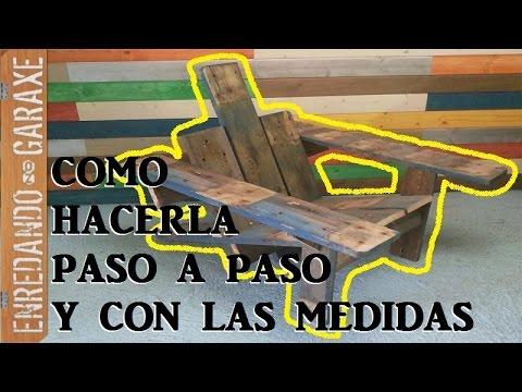 Como hacer la silla de patio Adirondack con madera de palet Pallet Adirondack chair  YouTube