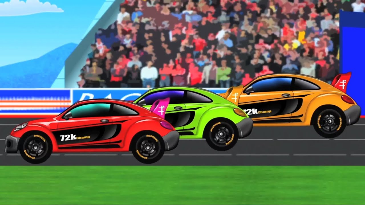 Sports Car | Kids Car Race | Racing Car | baby videos - YouTube