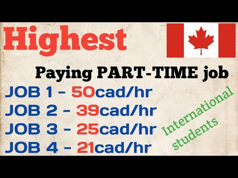 HIGHEST Paying Part Time Jobs In Canada For International Students. Top 4 Punjabi Desi Students