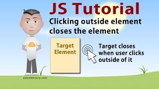 Click Outside Close Menu Box JavaScript CSS HTML Tutorial