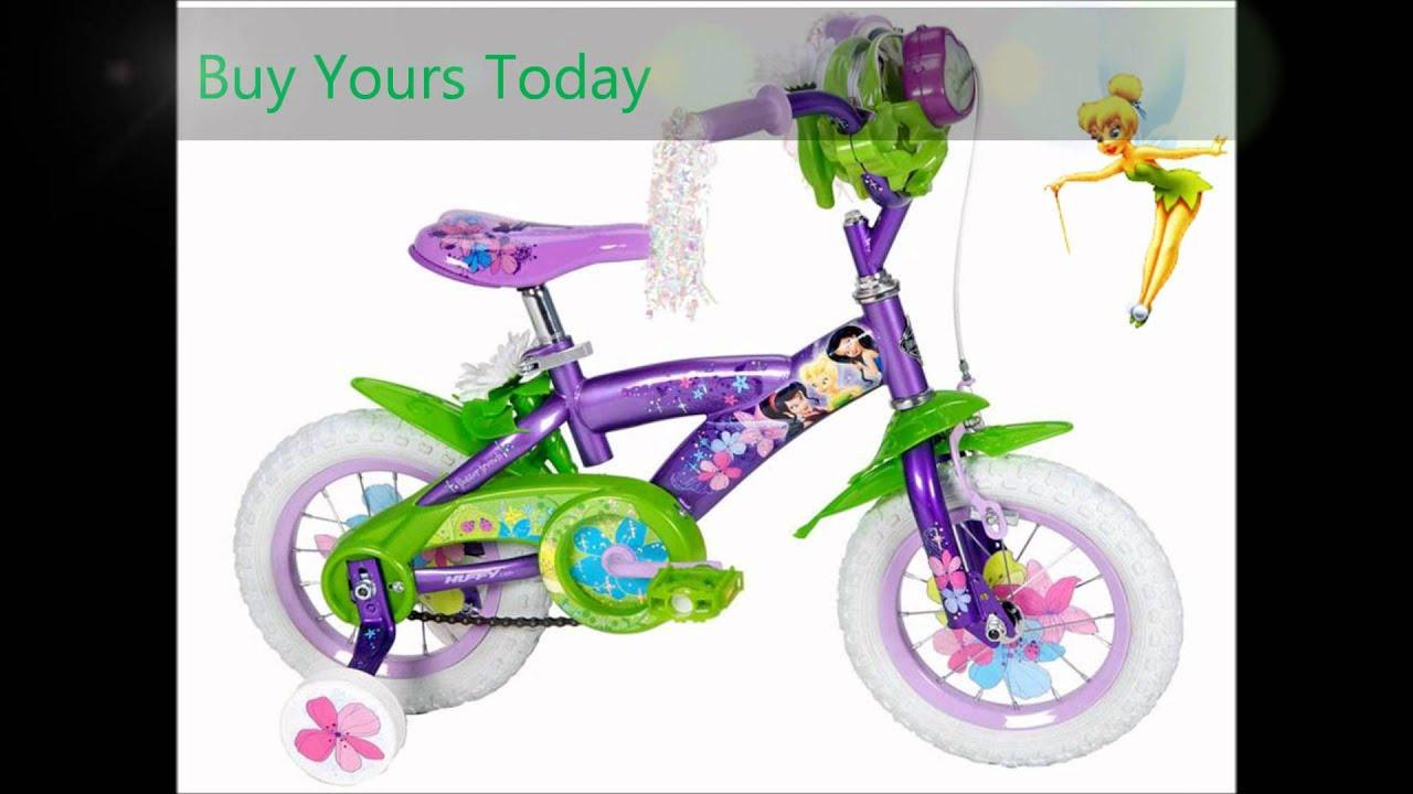 Disney Fairies Tinkerbell 12 Inch Bike For Girls Youtube