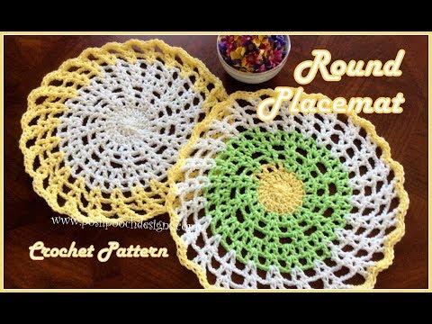 Round Placemat Crochet Pattern