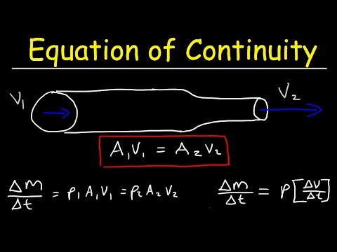 Continuity Equation, Volume Flow Rate & Mass Flow Rate Physics Problems