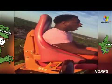 Guy faints multiple times but with Windows XP sounds
