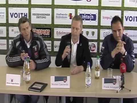 FCH gegen Unterhaching am 17.04.2010 - Pressekonferenz