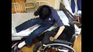 頚髄損傷者のベッドから車椅子へのトランスファー(cervical cord injury)