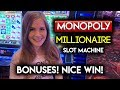Go to Jail BONUS! Monopoly Millionaire Slot Machine! Nice Win!!