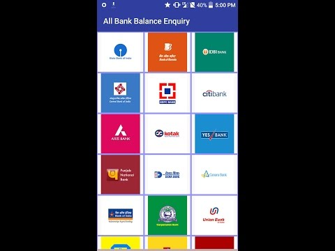 All bank balence enquiry